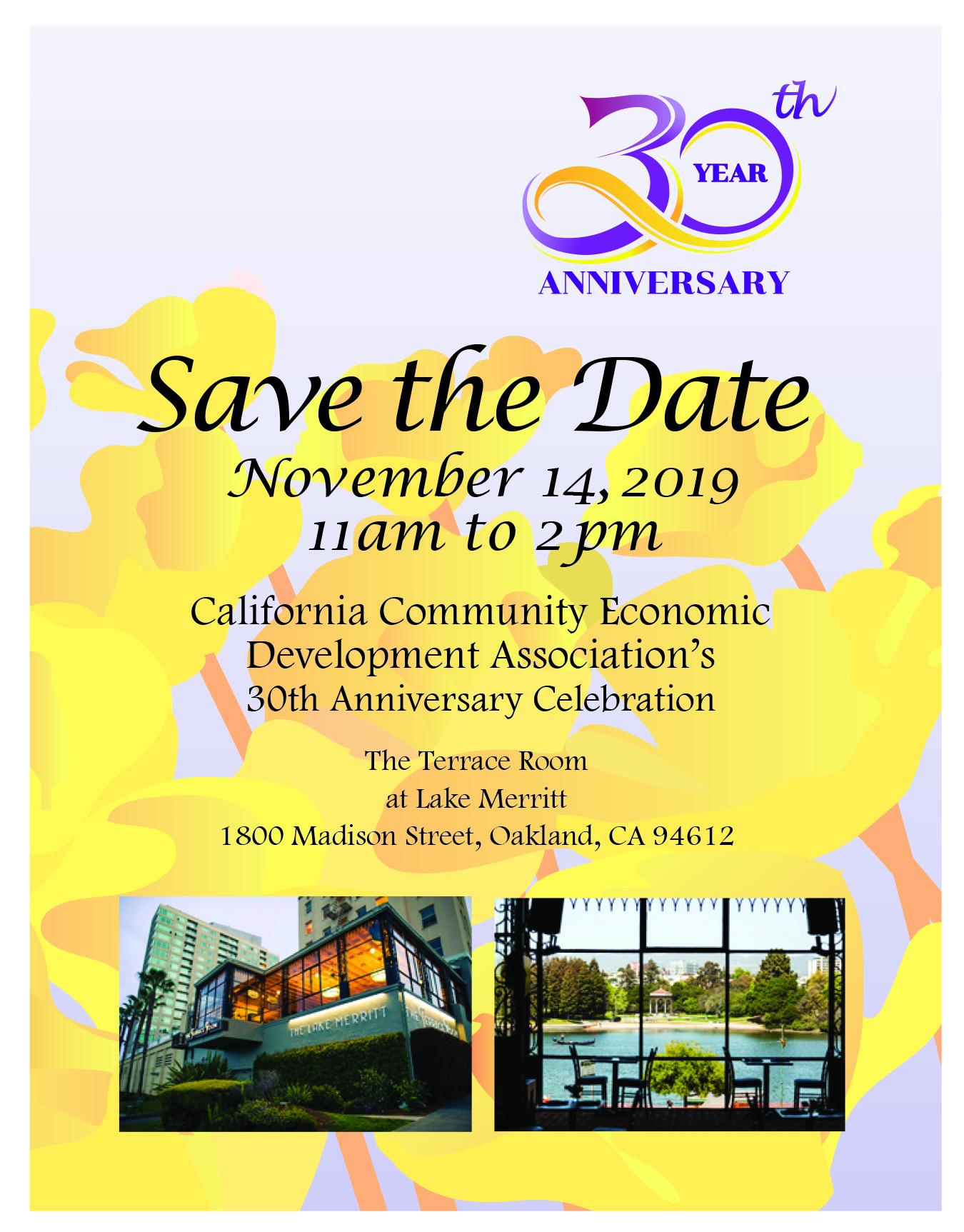 CCEDA Anniversary Luncheon Invitation